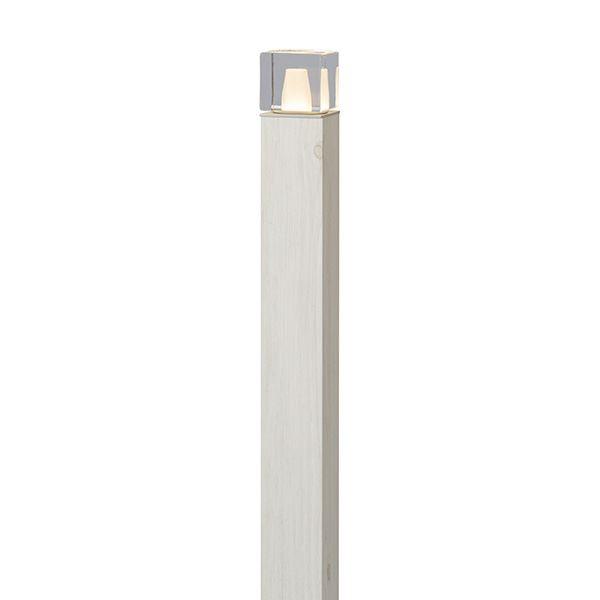 『欠品中 8月上旬頃入荷予定』タカショー エバーアートポールライト 6型 100V 拡散光 ガラスブロック HFD-D64W #75117400 ホワイトパイン