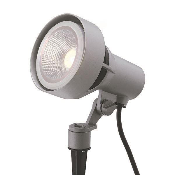 タカショー ガーデンアップライト 100V シンプルLED スポットライト3型 中角 照明:電球色 HFE-D60S #71447600 シルバーグレー