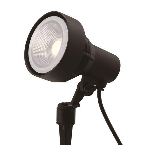タカショー ガーデンアップライト 100V シンプルLED スポットライト3型 中角 照明:電球色 HFE-D60K #71446900 ブラック