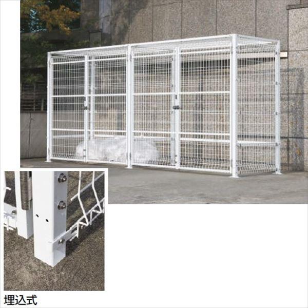 四国化成 ゴミストッカーEMF型 LGEM-GU2020 開き戸式 埋込式 連棟ユニット 両開き *単体購入不可 『ゴミ収集庫』『ダストボックス ゴミステーション 屋外』『ゴミ袋(45L)集積目安 151袋、世帯数目安 76世帯』 埋込式