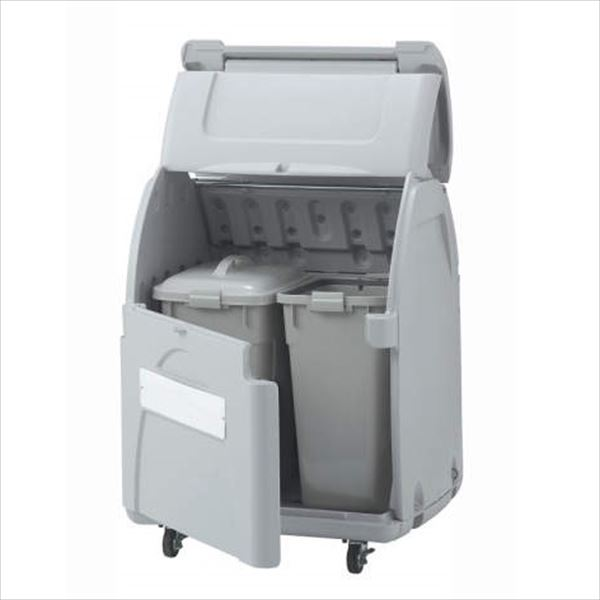 四国化成 ゴミストッカーEPシリーズ GSEP33B-LG EP330 内容器付 キャスタータイプ 『ゴミ収集庫』『ダストボックス ゴミステーション 屋外』『ゴミ袋(45L)集積目安 7袋、世帯数目安 3世帯』 内容器付