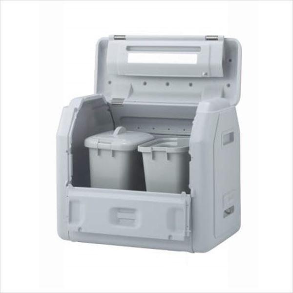 四国化成 ゴミストッカーEPシリーズ GSEPA100B-LG EP1000 内容器付 アンカータイプ 『ゴミ収集庫』『ダストボックス ゴミステーション 屋外』『ゴミ袋(45L)集積目安 22袋、世帯数目安 11世帯』 内容器付