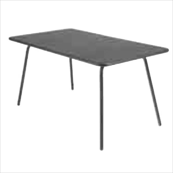 ニチエス FERMOB フェルモブ ルクセンブールテーブル 80×143 *パラソル穴付き 47アンスラサイト