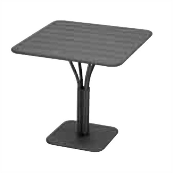 ニチエス FERMOB フェルモブ ルクセンブールテーブル 80×80 *パラソル穴付き 47アンスラサイト