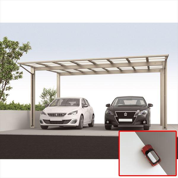 サビに強い アルミカーポート 2台用 四国化成 ライトポート ワイドタイプ 高延高 5154 ポリカーボネート板 LTPK-B5154SC 『雨や雪、紫外線から自動車を守るガレージ屋根』 ステンカラー