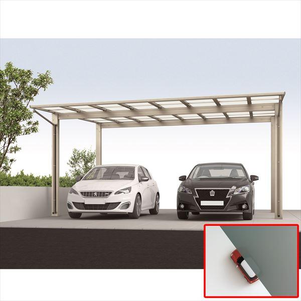 サビに強い アルミカーポート 2台用 四国化成 ライトポート ワイドタイプ 高延高 6051 熱線遮断ポリカ LTPK-P6051SC 『雨や雪、紫外線から自動車を守るガレージ屋根』 ステンカラー