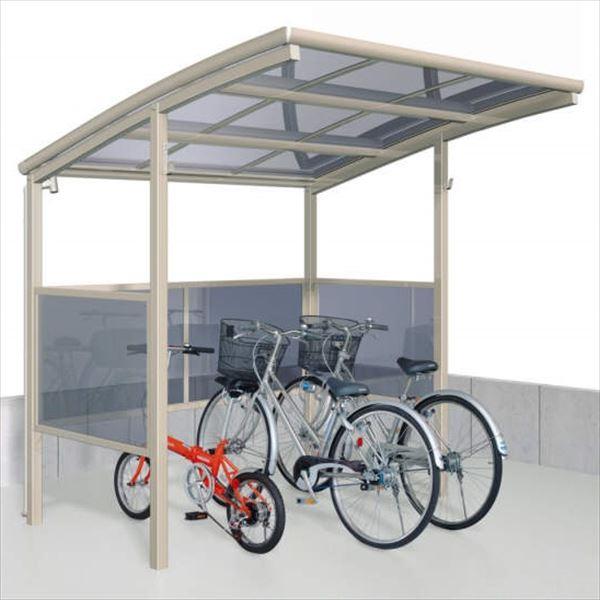 サイクルポート 三協アルミ ベルランド パネル2段タイプ 一般地域向 KLA-2121 『サビに強いアルミ 日本製 家庭用 自転車置場 屋根』
