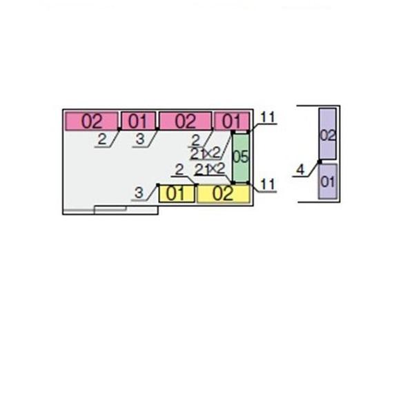 イナバ物置 NXN 間口4420用 別売棚Aセット(標準棚) *単品購入価格 大型タイプ