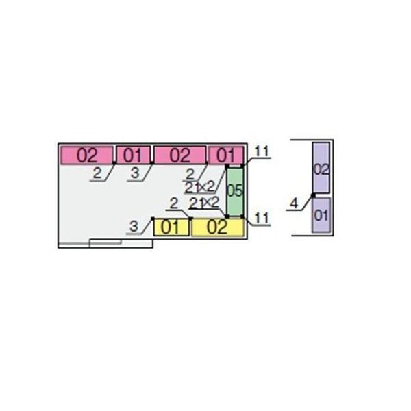 イナバ物置 NXN 間口4420用 別売棚Bセット(標準棚) *単品購入価格 大型タイプ