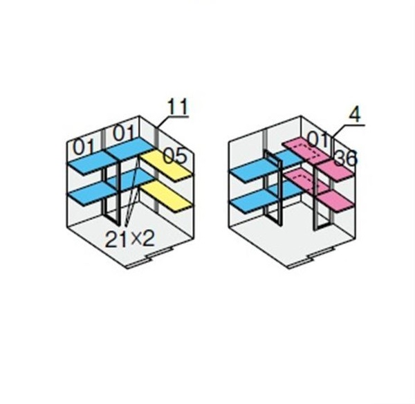 イナバ物置 NXN 奥行1790用 別売棚Dセット *単品購入価格 引き込み式2枚戸用