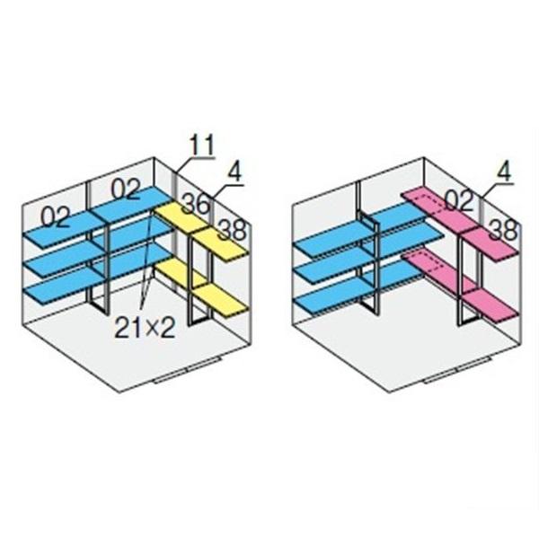 イナバ物置 NXN 奥行2210用 別売棚Dセット ハイルーフ用 *単品購入価格 引き分け戸用