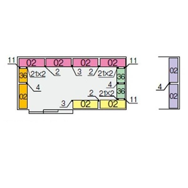 イナバ物置 NXN 奥行2630用 別売棚Cセット(標準棚) *単品購入価格 大型タイプ
