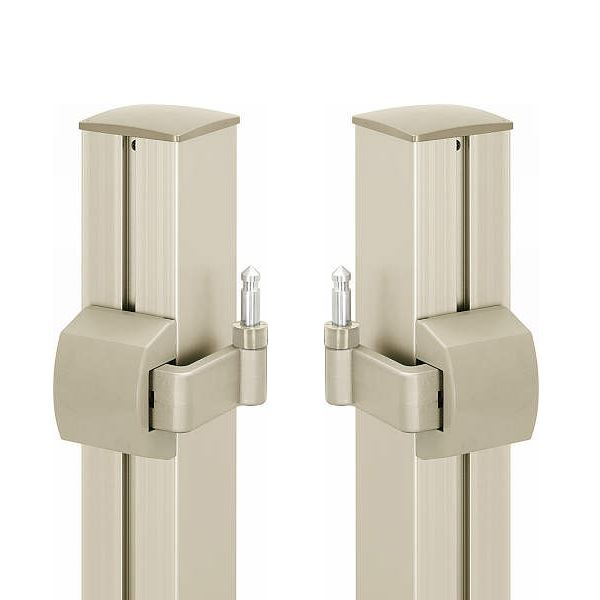 YKK ap 門柱施工用 ヒンジ・ヒジツボ部品 両開き・外開き用 MPE-BPA9-WB