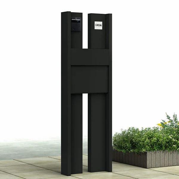YKKAP ルシアスポストユニットBS03型 表札灯タイプ 本体(L) UMB-BS03 エクステリアポストT11型 アルミカラー *表札はネームシールです 門柱 機能門柱 ポスト おしゃれ 照明付き