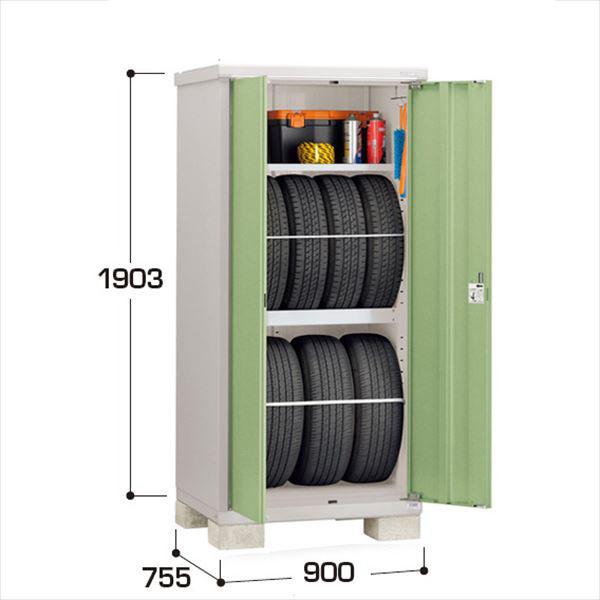 『配送は関東・東海限定』イナバ物置 BJX/タイヤストッカー BJX-097ET タイヤ専用収納庫  『追加金額で工事も可能』 『屋外用ドア型小型物置 DIY向け』 LG(リーフグリーン)