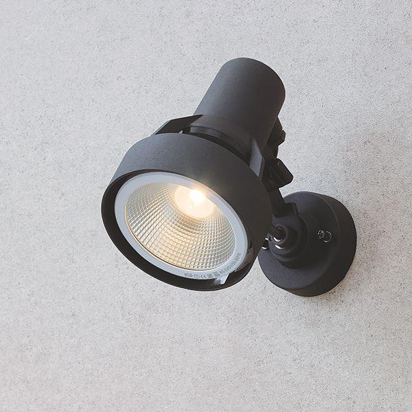 タカショー シンプルLED スポットライト3型 中角(ブラケットタイプ) HFE-D71K #75564600 ブラック/電球色
