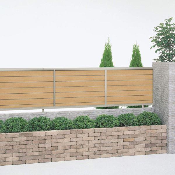 四国化成 クレディフェンス15型 本体 1420サイズ CDF15-1420 『アルミフェンス 柵 H1400mm用』 木調カラー
