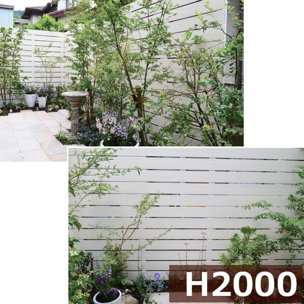 グローベン プラドフェンス コミコミセット ジョイントあり仕様 W2000×H2000(12段) 『目隠しフェンス 部材 樹脂 DIY』