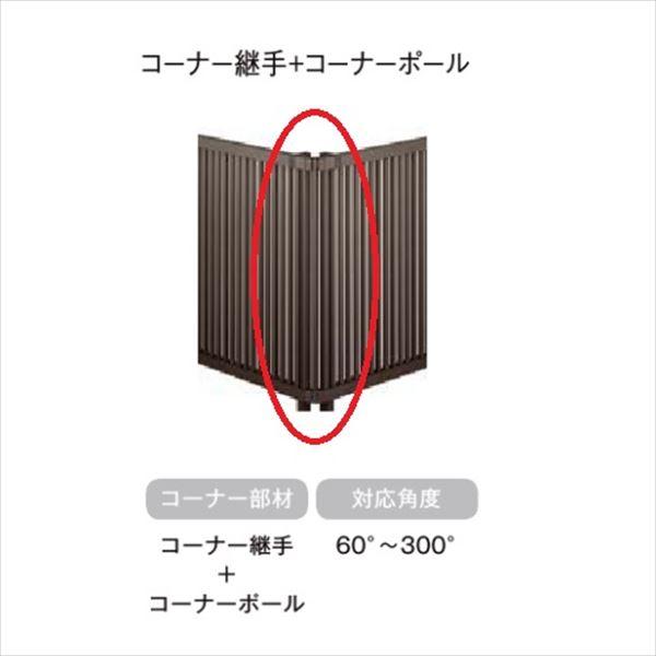 ◆高品質 購買 リクシル 室内からの見た目も美しい プライバシー重視のデザインが充実 フェンスAB オプション YS3型 アルミ形材色 コーナー継手セットE アルミフェンス 1セット T-8 ポール付 柵