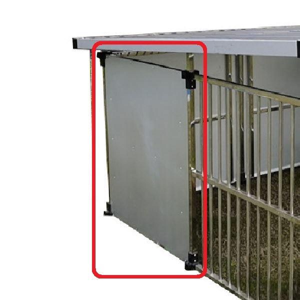 メタルテック ステンレス製マルチ犬舎 オプション  壁板+ボルト4本  『屋外用動物小屋 犬小屋』