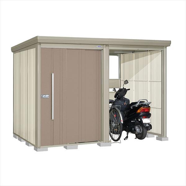 タクボ物置 TP/ストックマンプラスアルファ TP-3019B 一般型 標準屋根 『追加金額で工事も可能』 『駐輪スペース付 屋外用 物置 自転車収納 におすすめ』 カーボンブラウン