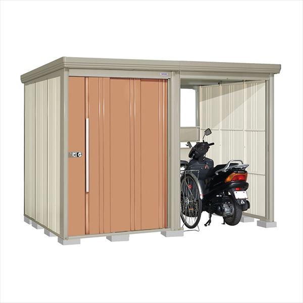 タクボ物置 TP/ストックマンプラスアルファ TP-Z3019T 一般型 結露減少屋根 『追加金額で工事も可能』 『駐輪スペース付 屋外用 物置 自転車収納 におすすめ』 トロピカルオレンジ