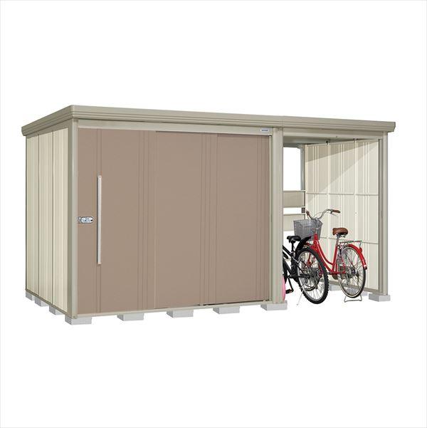 タクボ物置 TP/ストックマンプラスアルファ TP-4019B 一般型 標準屋根 『追加金額で工事も可能』 『駐輪スペース付 屋外用 物置 自転車収納 におすすめ』 カーボンブラウン