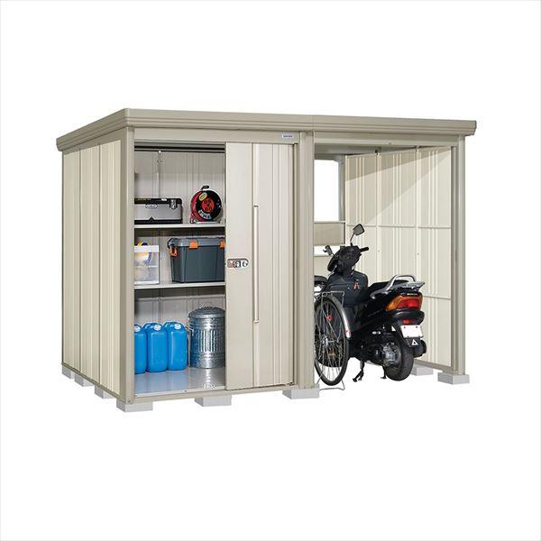 タクボ物置 TP/ストックマンプラスアルファ TP-31R19W 一般型 標準屋根 『追加金額で工事も可能』 『駐輪スペース付 屋外用 物置 自転車収納 におすすめ』 ムーンホワイト