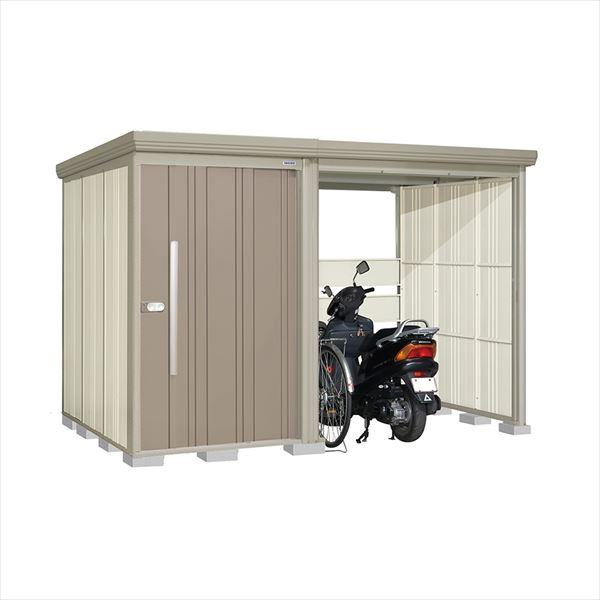 タクボ物置 TP/ストックマンプラスアルファ TP-31R19B 一般型 標準屋根 『追加金額で工事も可能』 『駐輪スペース付 屋外用 物置 自転車収納 におすすめ』 カーボンブラウン