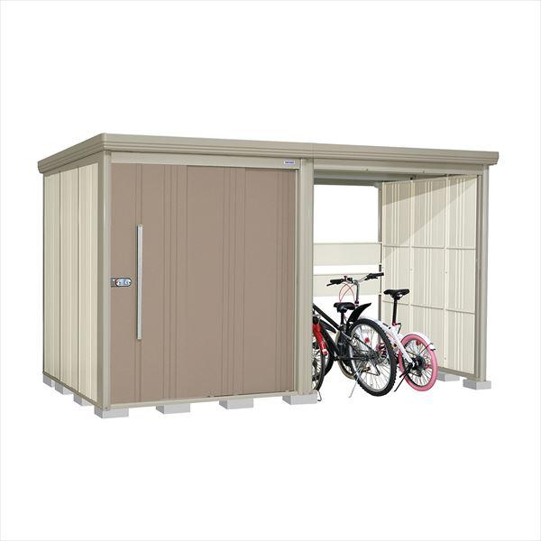 タクボ物置 TP/ストックマンプラスアルファ TP-37R19B 一般型 標準屋根 『追加金額で工事も可能』 『駐輪スペース付 屋外用 物置 自転車収納 におすすめ』 カーボンブラウン