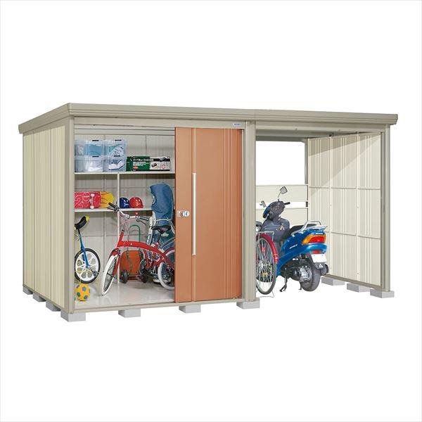タクボ物置 TP/ストックマンプラスアルファ TP-Z40R19T 一般型 結露減少屋根 『追加金額で工事も可能』 『駐輪スペース付 屋外用 物置 自転車収納 におすすめ』 トロピカルオレンジ