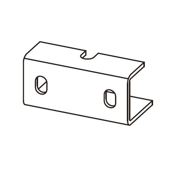 YKKAP アウターシェード 枠付け用選択部品セット 引違い窓 半外付  2枚仕様  フックユニット  B1/B7/H2/S1/YW  7AN-GH-C