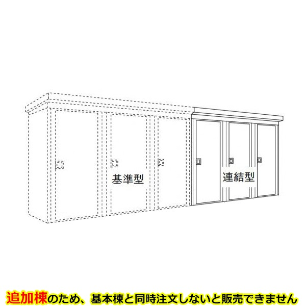 ダイケン DM-KNL 連続物置 DM-KNL C31108 連結型(3棟タイプ) *追加棟施工には基本棟の別途購入が必要です  『連続型物置 マンション アパート 工場向け 屋外用』
