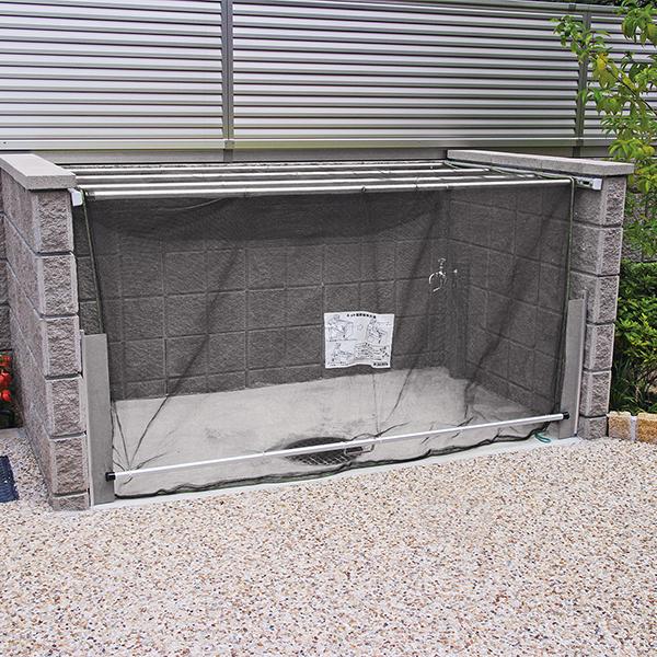 ダイケン クリーンストッカー(ネットタイプ) CKA-1612型 『ゴミ袋(45L)集積目安 42袋、世帯数目安 21世帯』 『ゴミ収集庫』『ダストボックス ゴミステーション 屋外』 黄色