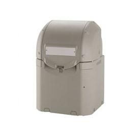 リッチェル ワイドペールST 350 『ゴミ袋(45L)集積目安 7袋、世帯数目安 3世帯』 『ゴミ収集庫』 グレー