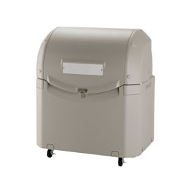リッチェル ワイドペールST 500 (キャスター付) 『ゴミ袋(45L)集積目安 12袋、世帯数目安 6世帯』 『ゴミ収集庫』 グレー