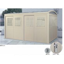 四国化成 ゴミストッカー LL型 GSLL-HP2440SC (基本セット) 『ゴミ袋(45L)集積目安 380袋、世帯数目安 190世帯』 『ゴミ収集庫』『ダストボックス ゴミステーション 屋外』 ステンカラー