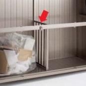 四国化成 ゴミストッカー PS型(07用)GS仕切り板 『ゴミ収集庫』『ダストボックス ゴミステーション 屋外』 ステンカラー