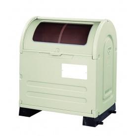 アロン化成 ステーションボックス透明 #500B(固定台座仕様) 『ゴミ袋(45L)集積目安 11袋、世帯数目安 5世帯』 『ゴミ収集庫』 ウォームグレー