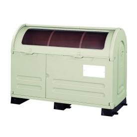 アロン化成 ステーションボックス透明 #800B(固定台座仕様) 『ゴミ袋(45L)集積目安 17袋、世帯数目安 8世帯』 『ゴミ収集庫』 ウォームグレー