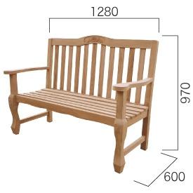 ジャービス商事 手作りベンチ 『ガーデンベンチ』 無塗装