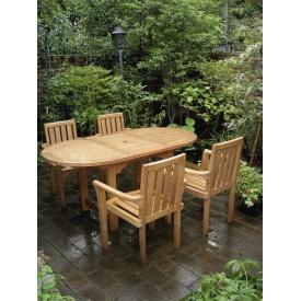 ジャービス商事 エクステンションテーブル 5点セット 『ガーデンテーブルセット』 無塗装