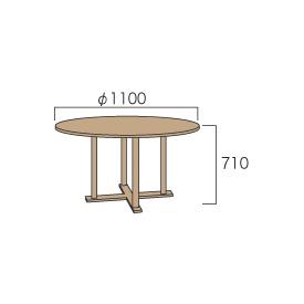 ジャービス商事 丸テーブル1111 『ガーデンテーブル』 無塗装