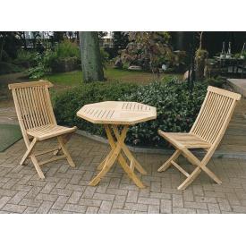 ジャービス商事 折り畳みテーブルチェア 3点セット 『ガーデンテーブルセット』 無塗装