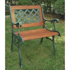 ジャービス商事 鋳物ファニチャー クロスチェア 『ガーデンチェア』 青銅色