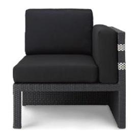 リクシル TOEX ソファラタンLA11(ブラック+ホワイト) 『ガーデンチェア』 ブラック+ホワイト