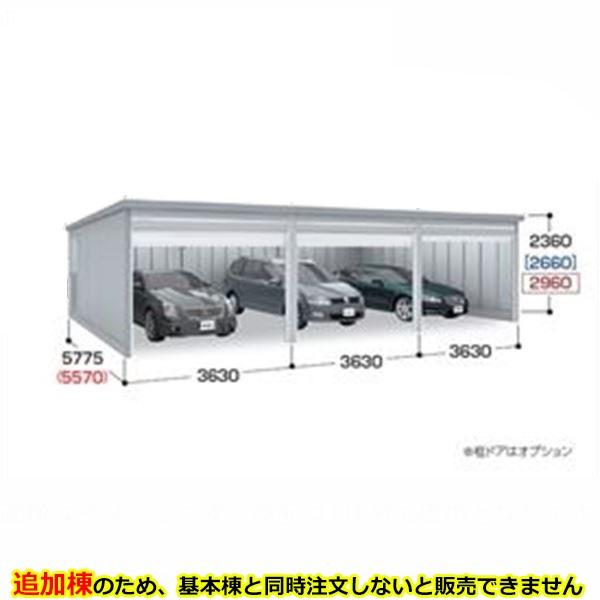 『配送は関東・東海限定』 イナバ物置 ガレーディア GRN-3657JL(追加棟)*基本棟と同時に購入しないと、商品の販売が出来ません 豪雪地型 『シャッター車庫 ガレージ』