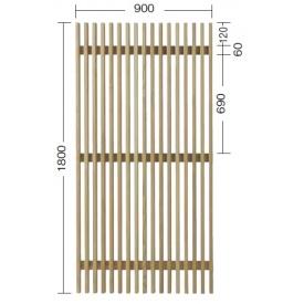 『欠品中』タカショー e-ウッドパネル13型 (板塀) H1800 『緑化 天然木フェンス 柵』 無塗装(少し緑がかった色です)