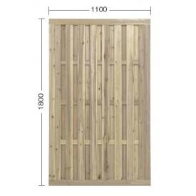 『欠品中』タカショー e-ウッドパネル3型 W11 (やまと縦型) 『緑化 天然木フェンス 柵』 無塗装(少し緑がかった色です)