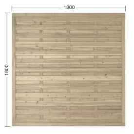 『欠品中』タカショー e-ウッドパネル4型 W18 (やまと横型) 『緑化 天然木フェンス 柵』 別注塗装済み(ホワイト以外)